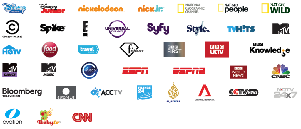 logos of 35+ premium channels in Entertainment pack